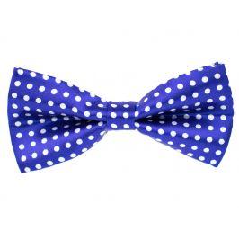 Vsepropejska Design modrý motýlek s puntíky pro psa | 26 - 43 cm