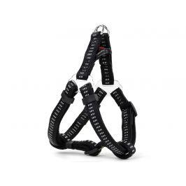 Vsepropejska Strong černý postroj pro psa s vodítkem | 35 – 50 cm