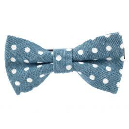 Vsepropejska Pattern modrý motýlek s puntíky pro psa | 25 - 45 cm