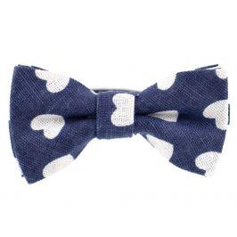 Vsepropejska Pattern modrý motýlek se srdíčky pro psa | 25 - 45 cm