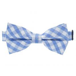 Vsepropejska Bob světle-modrý károvaný motýlek pro psa | 20 - 44 cm