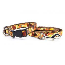 Art obojek pro psa s vodítkem | 29 – 54 cm Barva: Oranžová, Obvod krku: 29 - 48 cm