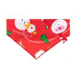 Vsepropejska Vánoční červený šátek pro psa Obvod krku: 20 - 50 cm
