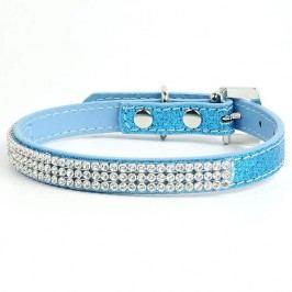 Zopet Třpytivý modrý obojek pro psa 19 - 26 cm
