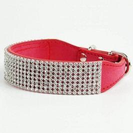 Zopet Luxusní červený obojek pro psa s kamínky 27 - 33 cm