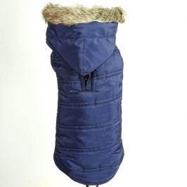 Zopet Modrá zimní bunda pro psa s kapucí 30 cm