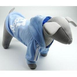 Zopet Adidog světle modrá mikina pro psa 20 cm