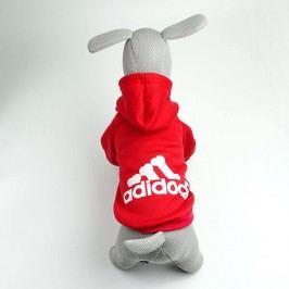 Zopet Adidog červená mikina pro psa 20 cm