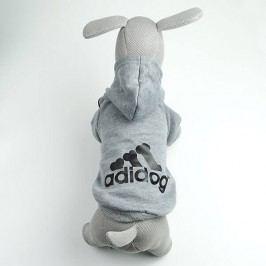 Zopet Adidog šedá mikina pro psa 20 cm