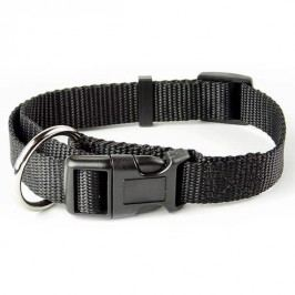 Zopet Černý nylonový stahovací obojek pro psa 33 - 54 cm