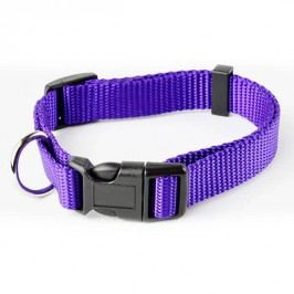 Zopet Fialový nylonový obojek pro psa 22 - 34 cm