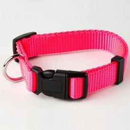Zopet Růžový nylonový obojek pro psa 22 - 34 cm