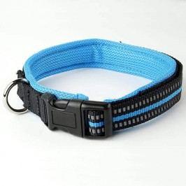 Zopet Černo modrý nylonový obojek s podšívkou 34 - 39 cm