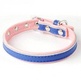 Zopet Modro růžový kožený obojek pro psa 22 - 27 cm