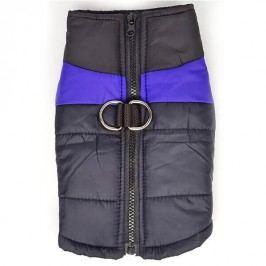 Zopet Černo-fialový obleček pro psa na zip 27 cm