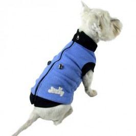 Zopet Modrá mikina pro psa na zip 27 cm