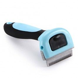 Modrý furminátor pro psa | 18 cm 10 cm
