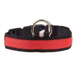Zopet Červený svítící obojek pro psa 35 - 40 cm
