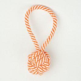 Zopet Oranžová smyčka se zapletenou koulí | 19 cm