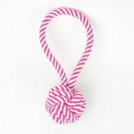 Zopet Růžová smyčka se zapletenou koulí | 19 cm