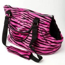Zopet Tygrovaná taška růžová 42 x 28 cm