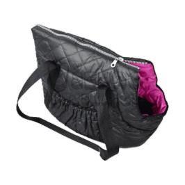 Zopet Černo-růžová taška pro psa 34 x 22 cm