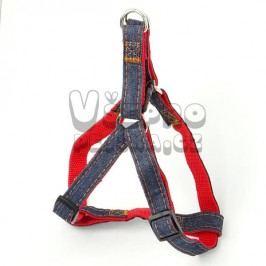 Zopet Červeno-riflový postroj pro psa 30 - 45 cm