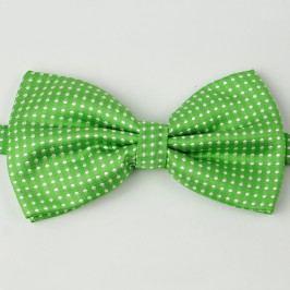 Zelený motýlek pro psa s puntíky