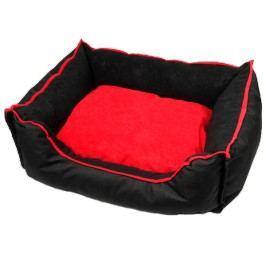 Zopet Černo-červený pelíšek pro psa 69 x 59 cm