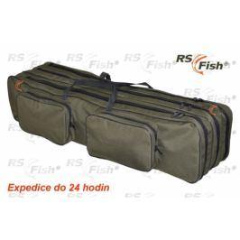 RS Fish® Pouzdro na pruty - 3 komory polstrované 130 cm