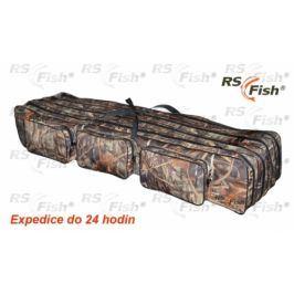 RS Fish® Pouzdro na pruty 3D Camo - 4 komory 130 cm
