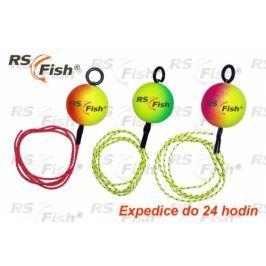RS Fish® odpadávací s gumičkou 38 mm - fluo růžová
