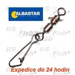 Albastar® Obratlík dvojitý s pevnostní karabinou Albastar 1