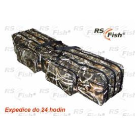 RS Fish® Pouzdro na pruty 3D Camo - 3 komory 140 cm