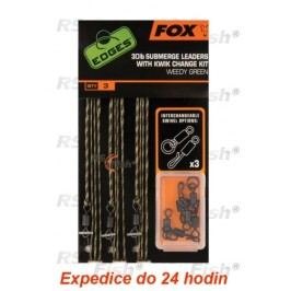 FOX® Submerge Leaders With Kwik Change Kit - Weedy Green CAC580