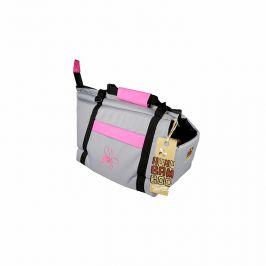 Huhubamboo taška šedá+růžová S