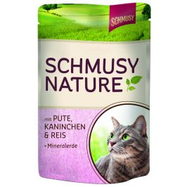 Finnern Schmusy Nature konzerva krůta+králík 100g