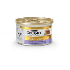 Purina Gourmet Konzerva GOURMET Gold Sav.Cake jehněčí a fazolky 85g
