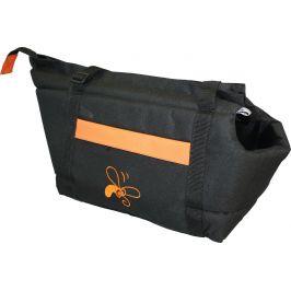 Taska Huhubamboo cerna oranz. 22x33cm