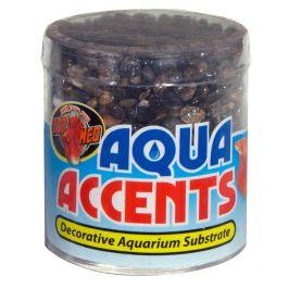 Zoomed Aqua Accents kamínky tmavé říční oblázky