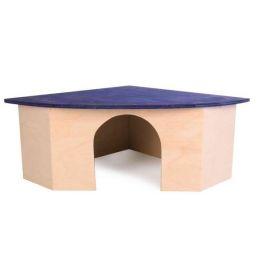 Huhubamboo Domek rohový křeček 22x10x16cm / 16cm