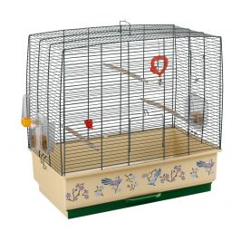 Ferplast střední klec pro ptáky s výbavou REKORD 4 zelená s dekorací