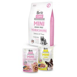 Brit Care Mini Grain Free Yorkshire 2kg+2x pouch 85g ZDARMA