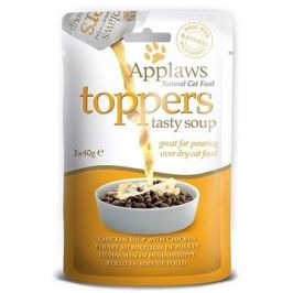 Applaws toppers Cat kuřecí polévka s kuřetem 3 × 40 g