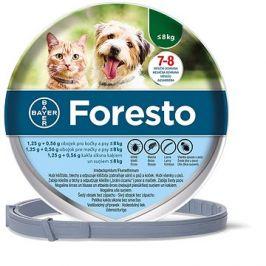 Foresto 1,25 g + 0,56 g obojek pro kočky a psy < 8 kg/38cm