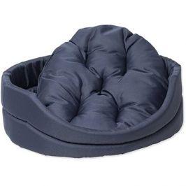 DOG FANTASY pelech oval s polštářem tmavě modrý