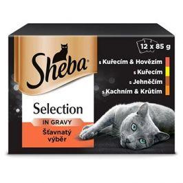 Sheba kapsička masový výběr ve šťávě pro dospělé kočky 12 × 85 g