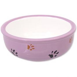 MAGIC CAT Miska keramická kočicí tlapka fialová 13 × 5 cm 0,33 l