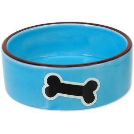 DOG FANTASY Miska keramická potisk kost modrá 12,5 × 4,5 cm 0,29 l
