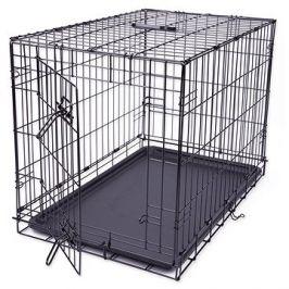 DOG FANTASY klec skládací M černá 1 dveře -76×53×48cm